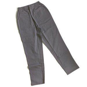 QVC Denim Co Original Waist Side Pocket Pants Grey